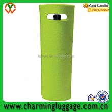 2015 china supplier promotional green felt wine bag wine bottle bag wine bag
