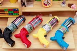 china factory gun shape packing color pencil