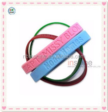 Customized cheap silicon bracelet for promotion , silicone chain bracelet