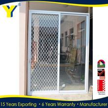 Aluminium sliding door with double glazed glass panels used commercial doors