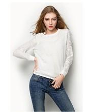 2015 novo design manga longa das senhoras da forma blusa modelo para uniforme
