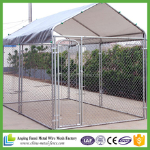 home depot supplier US and Canada standard size cheap chain link dog kennels with top cover