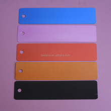 Blank oxidized 5 colors aluminum metal label plate