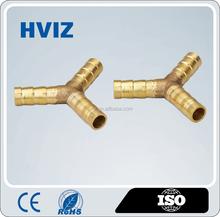 pneumatic Y brass tube fitting nipple, brass Y hose barb fitting