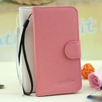 Wholesale Elegant Lychee Grain Wallet Pouch Flip Leather Case for BlackBerry Z3