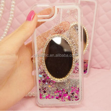 quicksand liquid glitter crystal mirror cell phone case