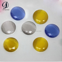 Fashion cabochon synthetic glass cat eye beads