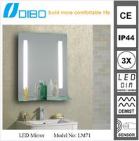 hotel UL compliant fog-free frameless mirror mounting hardware
