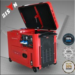 BISON China Taizhou BS7500DSE Easy Move Soundproof Diesel Generators Turkey