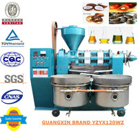 High quality peanut oil making machine Guangxin brand cotton seed oil expeller YZYX120WZ