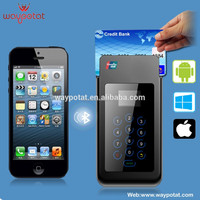 Mobile EMV Chip Card Reader Magnetic Card Reader With Pinpad Keypad ios Android SDK