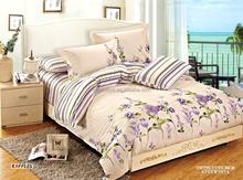 flesh flower bedding set 100% cotton 4pcs duvet cover bed sheet pillowcases
