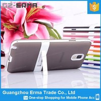 High Quality Unique Plastic Kickstand TPU Phone Case for Samsung Galaxy Note3