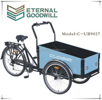 "Hot sale three wheel bike/tricycle/cargobike/Cargo Bike with good qulity NY-UB9027-6SPX24""/26"" for adult"