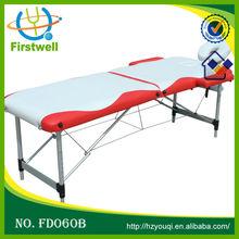 aluminium portable adjustable massage table/ salon massage table/beds