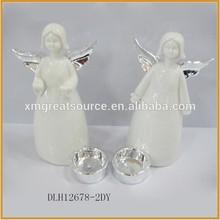 Different size custom cheap porcelain angel