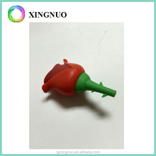 Silicone rubber rose flower case for USB flash driver