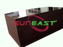 Linyi SUNEAST eucalyptus core WBP glue film faced plywood for building construction,sanded finished face
