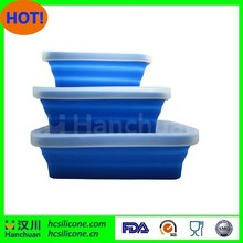 Disposable lunch box silicone folding food container with lid