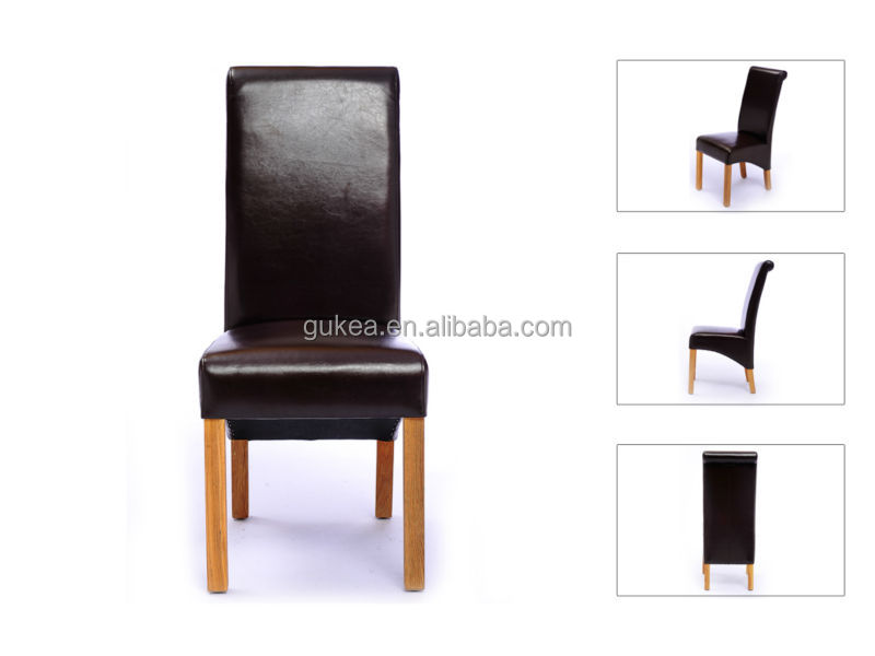 Morden dark brown leather resturant dining chair GK604