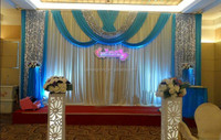 gauze drapes for wedding party stage decorations wall covering with swag background curtains with sequin ice silk fabric