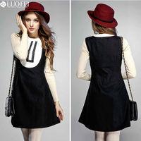 contrast pleated panel fashion modern lady elegant vintage apparel