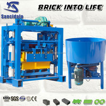 Low cost QT40-2 manual brick machine for myanmar