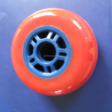 China Wholesale red polyurethane Inline Skate board Wheel caster with blue PP core for kids Scooter