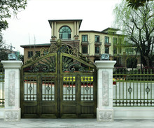 Hot selling iron main gate designs for homes