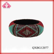 Colorful Hipanema Wide Wrist Make Beaded Bangles For Wholesale (QXBG12077)