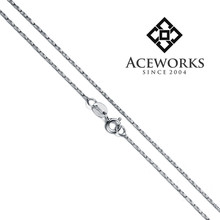 Top fashion 18 inch sterling silver chain fine silver chain necklace for men