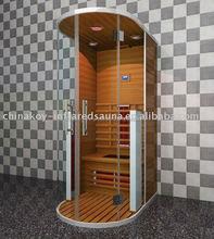 2011 new design round far infrared sauna room