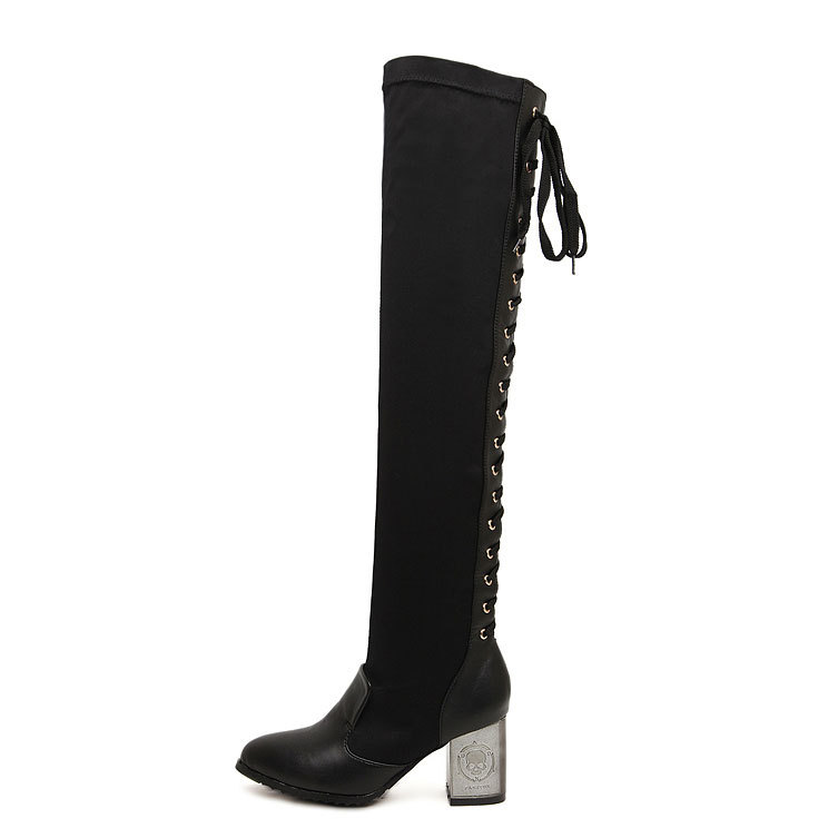 back lace up knee high boots buy knee high boots lace up