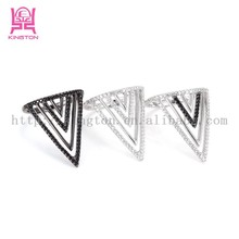 mulriple triangle ring,best selling sterling silver jewelry products