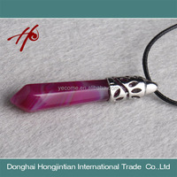Natural Crystal Pendant Rose Agate Beautiful Size for Gift