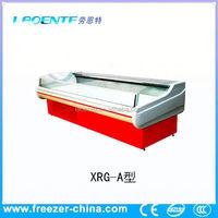 refrigerator and freezer fresh meat showcase,freezer pvc strip curtain refrigerator meat display chiller