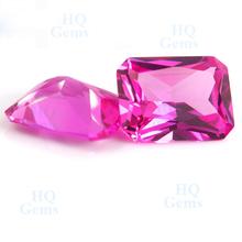 HQ original ruby stone rough ruby gems emerald cut corundum