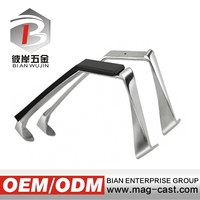 Aluminum polishing office chair armrest with plastic pad