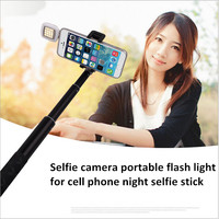 Selfie camera portable flash light for iphone 6S night selfie stick Universal 3.5mm