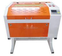 RAYFINE brand RF-6040 big discount 50w Fabric Acrylic Wood Granite laser engraving cutting machine with rotary axis