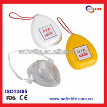 2015 Stock available wholesale promotion first aid Cardiopulmonary resuscitation personal deluxe FACE shield emergency CPR mask