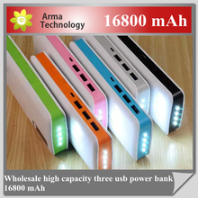 Wholesale 2015 new design 16800mah portable power bank for samsung