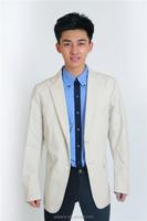 Men's fashion white suit