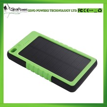 Hot selling promotional gift 5000mAh outdoor sports portable solar power bank charger waterproof for mobile phone