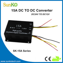 High Quality 24vdc to 12vdc converter 15amp Best power supply transformer 12 volt to 24 volt dc/dc converters CE Compliant SunKo