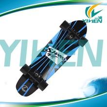 shark tail plastic skateboard,22inch mini shark cruiser for longboard skateboard