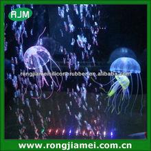 Glowing Effect Vivid Artificial Jellyfish Aquarium Fish Tank Decor Ornament