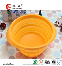 Hot sale popular BPA free multipurpose silicone collapsible bowl