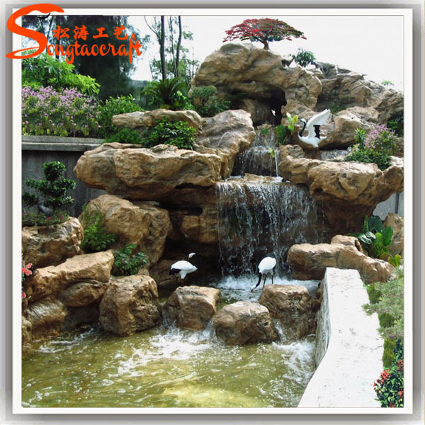 Wholesale indoor big water fountains decorative stone for Ornamental garden features