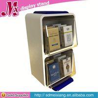 acrylic jewelry display stand, MX2915 acrylic display case with wood base